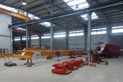 Výroba jeřábu a kladkostrojů - nová hala GIGA