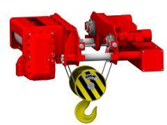 Elektrický lanový kladkostroj se zkrácenou stavební výškou, typ GHM 25000-16-4/1-6M,Z