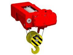 Elektrický lanový kladkostroj stacionární, typ GHM 5000-20-4/1-6M,S