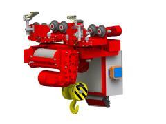 Elektrický lanový kladkostroj jednokolejnicový GHM 5000-20-4-1-6M,R_5206-18