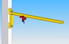 3D model otočného konzolového jeřábu, GKOJ 0,5t-6m
