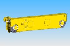 3D model pojezdových příčníků