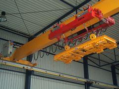 Mostové jeřáby GIGA - mostový jeřáb jednonosníkový s lanovou stabilizaci na magnetové traverse