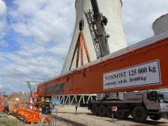 Mostové jeřáby GIGA o nosnosti 125t a 165t pro elektrárnu Počerady, 2