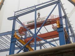 Mostové jeřáby GIGA o nosnosti 125t a 165t pro elektrárnu Počerady, 5