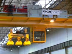 Jeřáby GDMJ 10t+10t-22,2m a GDMJ 12,5t-22,2m po rekonstrukci
