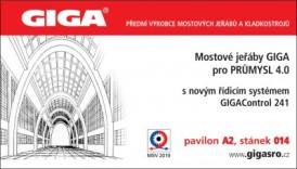 Na mezinárodním veletrhu MSV 2019 Brno bude představen nový řídicí systém GIGAControl 241