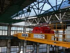 Montáž mostového jeřábu GDMJ 80t-12,5t-25,1m