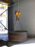 Dvounosníkový mostový jeřáb GDMJ 50t, 15,4 m po montáži