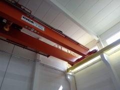 Mostový jeřáb GDMJ 35t-5t-16,5m po montáži, Elektrárna Ledvice
