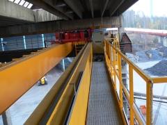Mostový jeřáb GDMJ 8t/16,5m s kabinou a drapákem pro KOVOHUTĚ Příbram_1