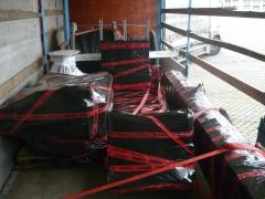 Výroba a expedice mostového jeřábu pro Okulovku, Rusko