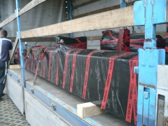 Výroba a expedice mostového jeřábu pro Okulovku, Rusko - nakládka