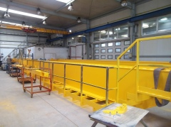 Výroba jeřábů GDMJ 40t-16,73m a GJMJ 4,9t-15,285m