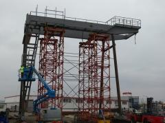 Předmontáž portálového jeřábu, GPMJ 40t/11,5 m