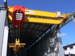 Dvounosníkový mostový jeřáb GDMJ 50t, 15,4 m