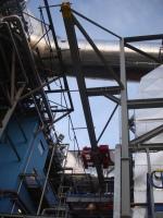 Kladkostroje pro nové zařízení odsíření spálenin v Slovnaft Bratislava, Slovensko
