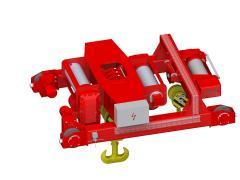 Elektrický lanový kladkostroj dvoukolejnicový, typ GHM 25000-14-2x4-1-9M,D+GHM 10000-20-4-1-9M,S_5114