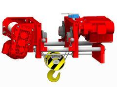 Elektrický lanový kladkostroj se zkrácenou stavební výškou, typ GHM 3201-20-4/1-6M,Z