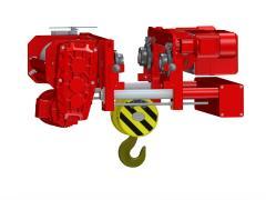 Elektrický lanový kladkostroj se zkrácenou stavební výškou, typ GHM 6302-20-4/1-6M,Z