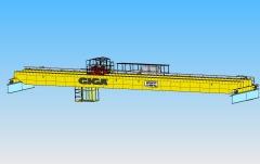 3D modelování dvounosníkového mostového jeřábu GDMJ 10t, 35m