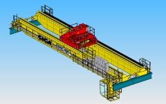 3D modelování jeřábu GDMJ 80t-12,5t-25,1m v SolidWorks, Sokolovská uhelna