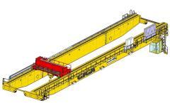 3D modely mostové jeřáby GIGA - dvounosníkový mostový jeřáb GDMJ 120t:41,25m