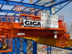 Mostové jeřáby GIGA o nosnosti 125t a 165t pro elektrárnu Počerady, 3