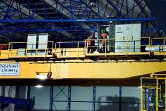 Jeřáb GDMJ 120t-50t-41,25m - zkoušky