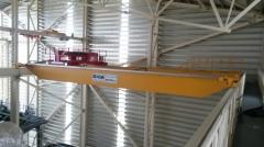 Jeřáby GDMJ 40t-16,73m a GJMJ 4,9t-15,295m po montáži v Terekty, Kazachstán