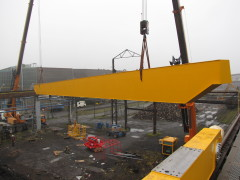 Montáž mostového jeřábu GDMJ 10t, 35m Viadrus