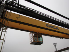 Montáž mostového jeřábu GDMJ 10t, 35m, Viadrus