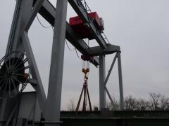 Vrátek GWF 50t/12m, MCE Nyíregyháza Kft, Maďarsko, po montáži