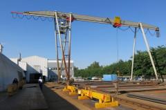 Portálový jeřáb v MCE Hyíregyháza po modernizaci